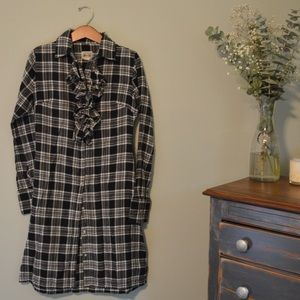 Converse XS Plaid Shirt Dress